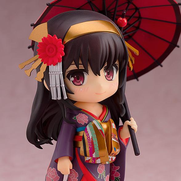 [입고완료] [굿스마일컴퍼니] 넨도로이드 No.1161 시원찮은 그녀를 위한 육성방법 Fine 카스미가오카 우타하 기모노 Ver.