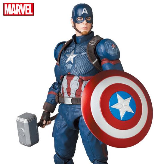 [21년 03월 발매] [메디콤토이] MAFEX (마펙스) No.130 어벤져스 : 엔드게임 캡틴 아메리카 (엔드게임 Ver.)